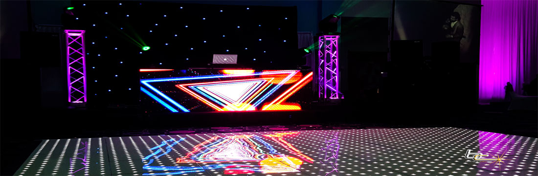 Animation Graphic White Multi Colored Dance Floor